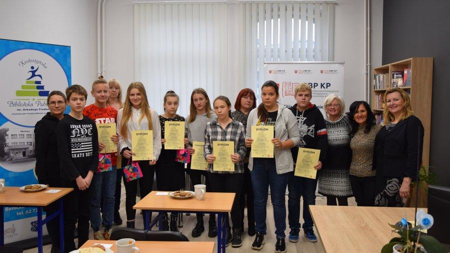 """Konkurs czytelniczy """"Zwiadowcy-Ruiny Gorlanu"""" w Krotoszyńskiej Bibliotece Publicznej"""